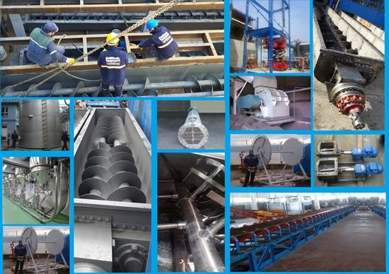 Picture of Helezon, bant konveyör, tank silo, bariyer, borulama, eşanjör, mikser imalatı