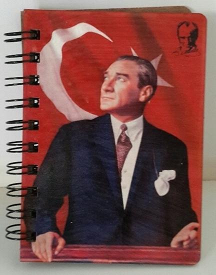 Picture of Tahta Kapaklı Elişi Defter ( Atatürk Bayrak  )