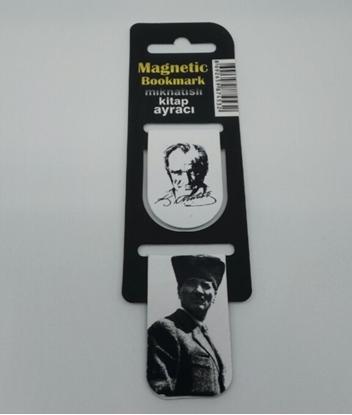Picture of Askılı 2li İçi Mıknatıslı Kitap Ayracı ( Atatürk İmza )