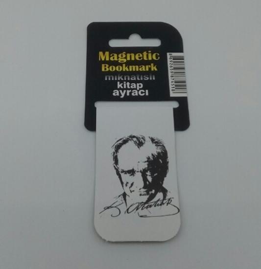 Kitap Ayracı İçi Mıknatıslı ( Atatürk İmza ) resmi