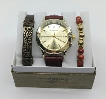 Saat Bileklik Seti Bronz Renk resmi