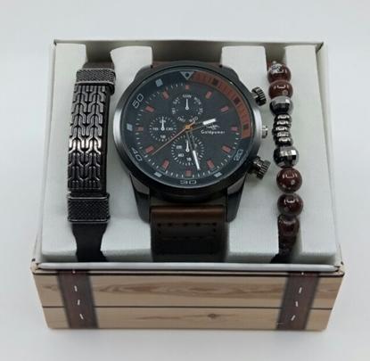 Saat Bileklik Seti Siyah Renk resmi