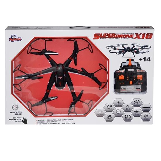 BÜYÜK 2.4GHZ ISIKLI AERO DRONE X resmi