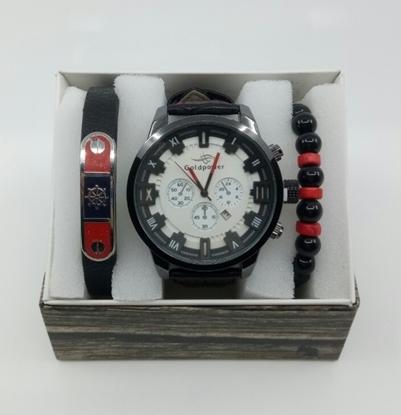 Saat Bileklik Seti ÖZEL KOLEKSİYON Siyah-Kırmızı resmi