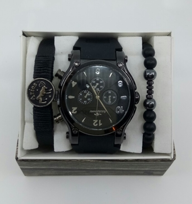 Saat Bileklik Seti ÖZEL KOLEKSİYON Siyah resmi
