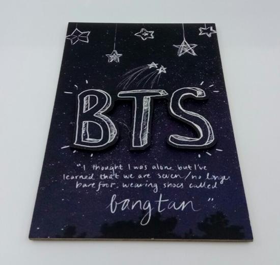 Tahta Poster  BTS 1 ( 20 cm  30 cm ) resmi