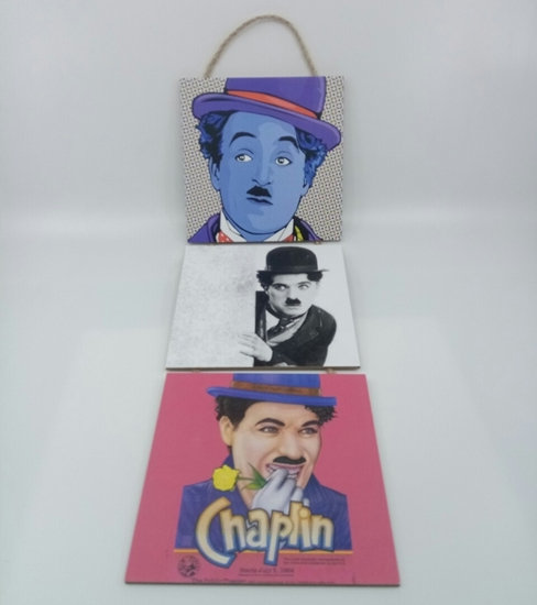 Picture of Poster , Askılı 3 Tahta Parça( Chaplin )