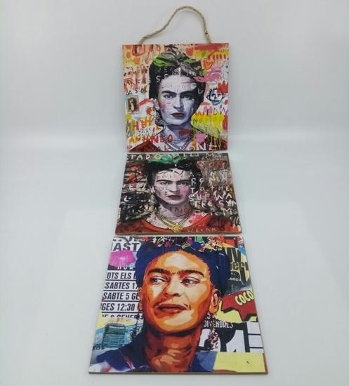 Picture of Poster , Askılı 3 Tahta Parça( Frida )