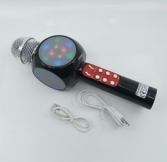 Karaoke Işıklı FmRadio Mikrofon Siyah resmi