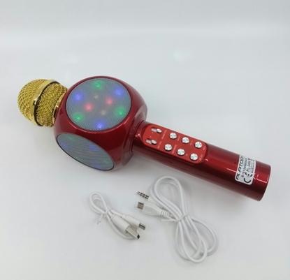 Karaoke Işıklı FmRadio   Mikrofon Bordo resmi