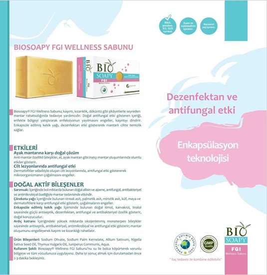 Biosoapy® FGI Wellness Mantar Sabunu 100 gr (Kaşıntı, kızarıklık, döküntü gibi şikâyetlerle seyreden mantar) resmi