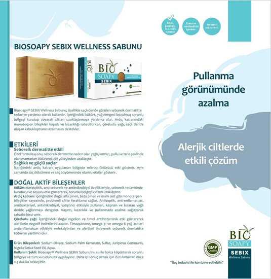 Picture of Biosoapy® SEBIX Wellness Seboreik Dermatit Sabunu 100 gr (Saçlı deride görülen yağlı kepekte tedaviye yardımcı olur)
