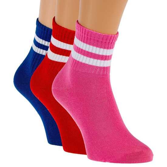 3'lü Paket Renkli Bayan Çorabı resmi
