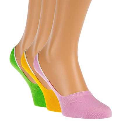 3'lü paket Renkli Babet çorabı resmi