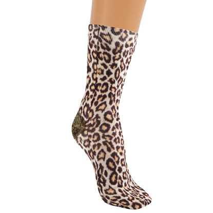 Leopar desen çorap resmi