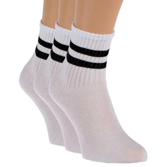 Picture of 3'lü paket Beyaz Bayan çorabı