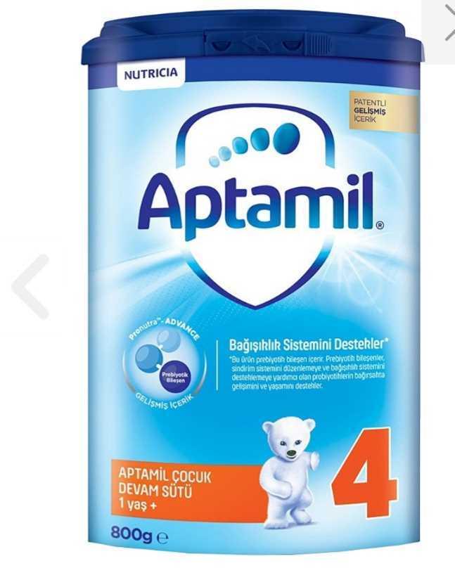 Aptamil 4 devam sütü 1 yaş 800 gr resmi