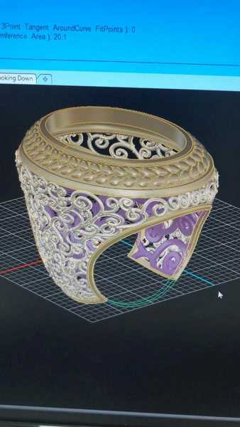 Picture of 3D Jewelry Design, Printing, Wax and Casting Service