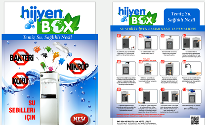 HijyenBox Su Sebili Temizleme ve Dezenfekte Tam Takım set resmi