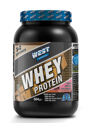 West Nutrition Whey Protein Tozu 504 gr 14 Servis Çikolata Aromalı resmi
