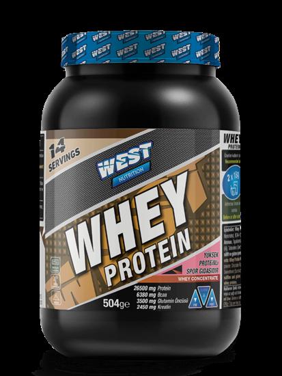 Picture of West Nutrition Whey Protein Tozu 504 gr 14 Servis Çikolata Aromalı