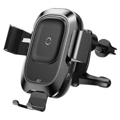 Picture of Baseus Sensörlü Kablosuz Şarj Özellikli Havalandırma için Araç içi Telefon Tutucu Siyah