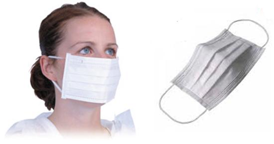 Picture of Koruyucu Bakteri Filtreli Yüz burun maskesi - Lastikli