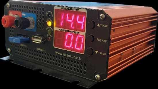 Akü Şarj Cihazı ve Redresör 12V 15A - 6V 15A - 24V 7A Laboratuvar Tipi Güç Kaynağı 0..30Vdc 0..7A resmi
