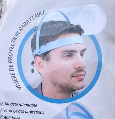 Corona Siperlik, Koruyucu Siperlik, Yüz ve Göz Koruyucu Siperlik, Protective Visor,  Face and Eye Protection Visor resmi