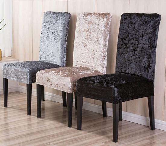 Kadife Sandalye kılıfı resmi