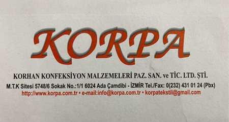 Picture for vendor korpa korhan konf.malz.paz.an.tic.ltd.şti.
