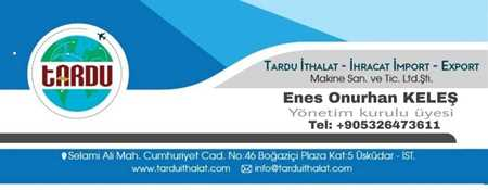 Satıcı için resim Tardu İhtalat İhracat  Makina Sanayi ve TİC. LTD. ŞTİ
