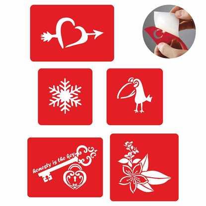 Kalp Ve Anahtar Dövme Şablonu Ve Kına Desenleri 5 Adet 7713405 resmi