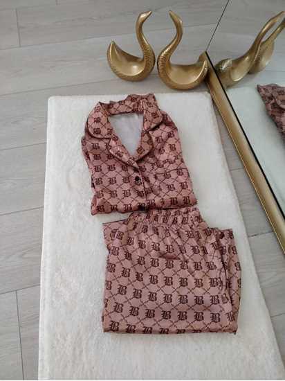 Picture of Camel Saten Pijama Takımı