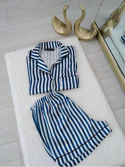 Picture of Mavi çizgili pijama takımı