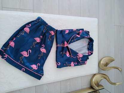 Flamingo Saten Pijama Takımı resmi