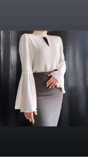 Picture of beige ispanyol bluz