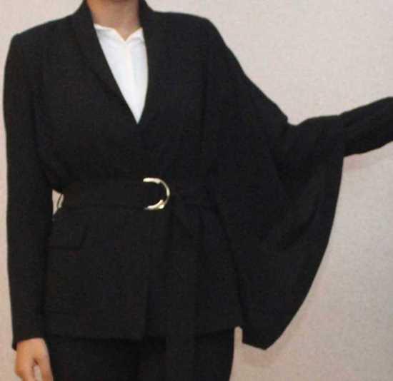 siyah kemerli ceket bluz resmi