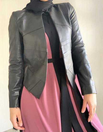 siyah suni deri ceket resmi