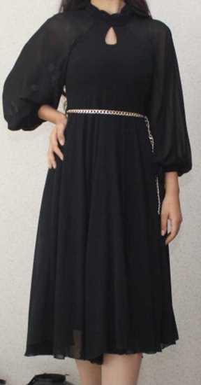Picture of siyah şifon elbise