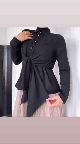 önü bağlamalı bluz resmi