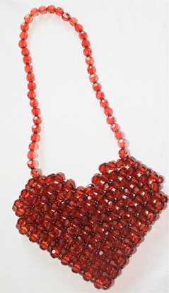 Picture of Kalp boncuk kristal çanta