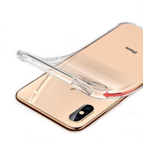 iPhone X Darbe Korumalı Şeffaf Kılıf resmi